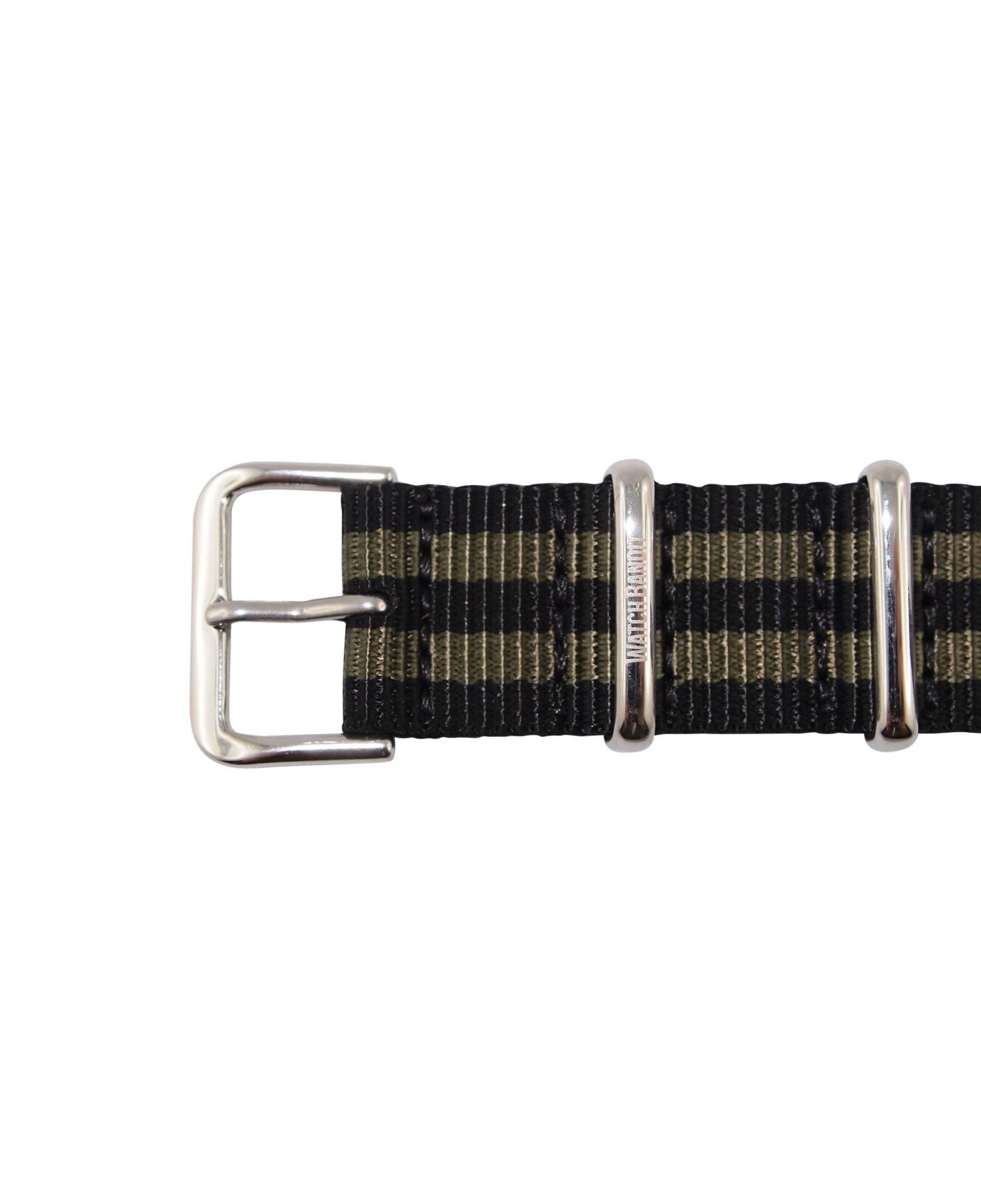 Nato Strap | Black & Green | Polished | 18 mm