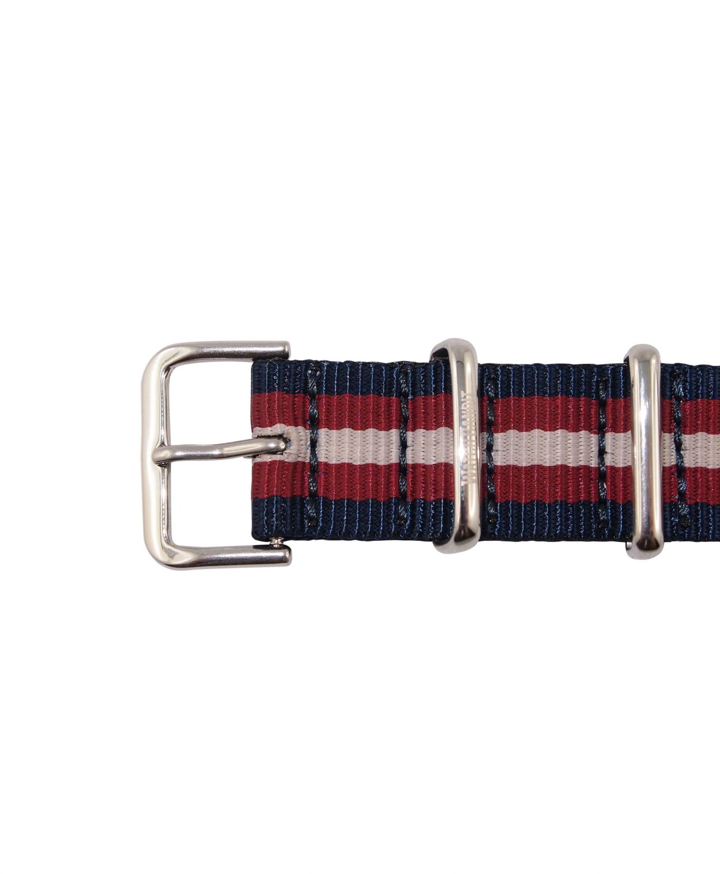 Nato Strap | Blue, Red & White | Polished | 18 mm