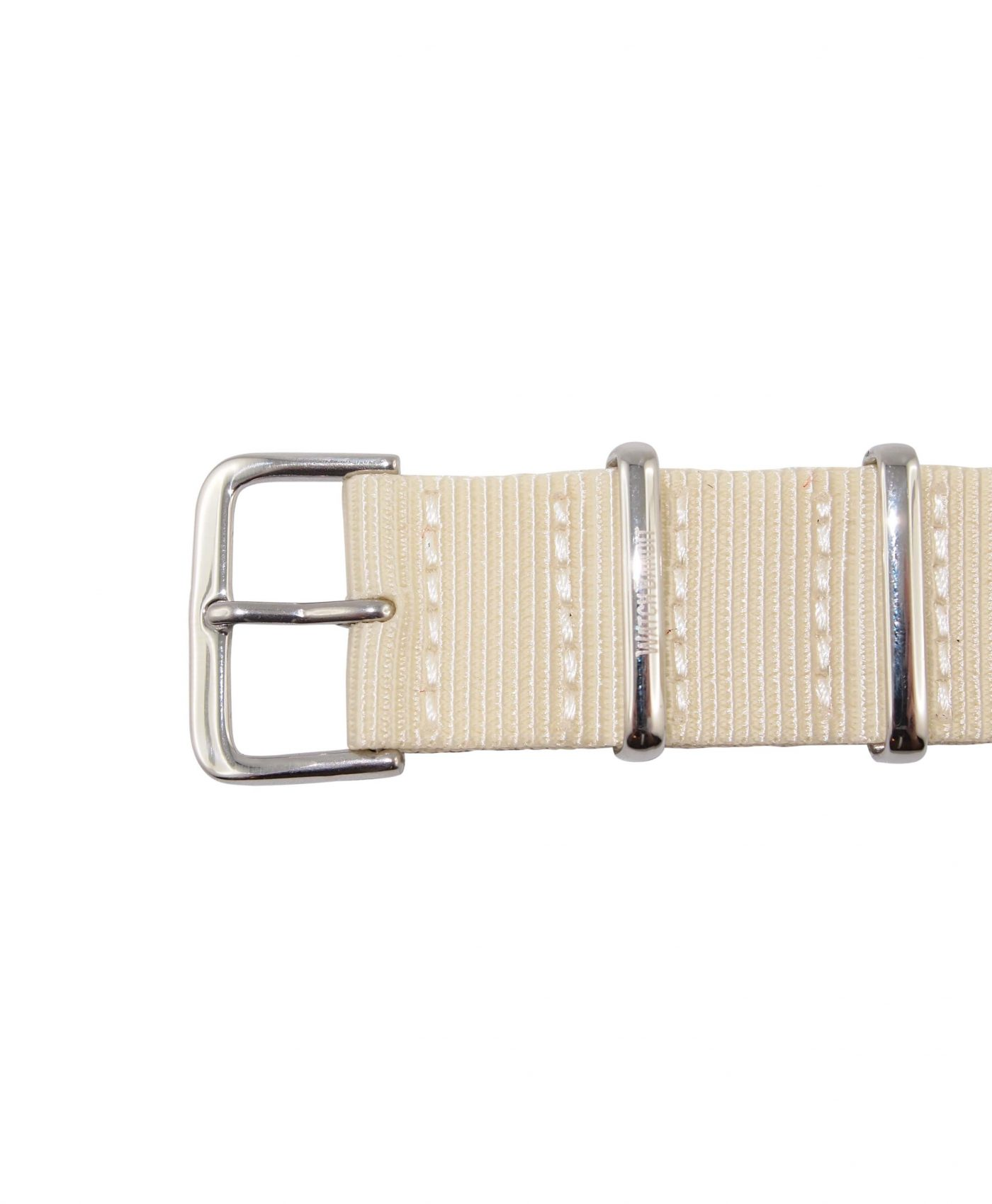 Nato Strap | White | Polished | 20 mm