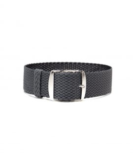perlon watch strap dark grey