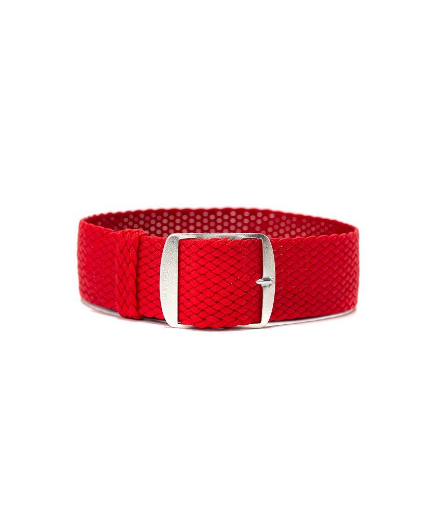 perlon watch strap red