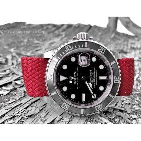 Red Perlon Straps Rolex Submariner Credit oslokiropraktoren
