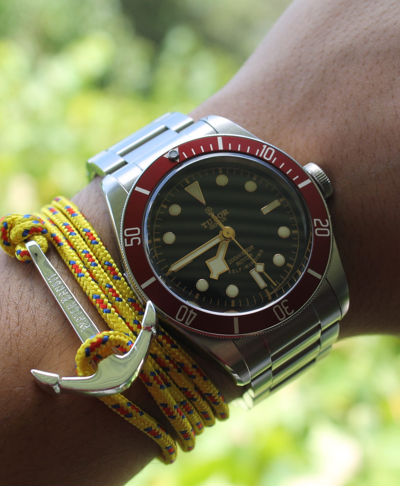Tudor Heritage Black Bay and anchor bracelet by abewd