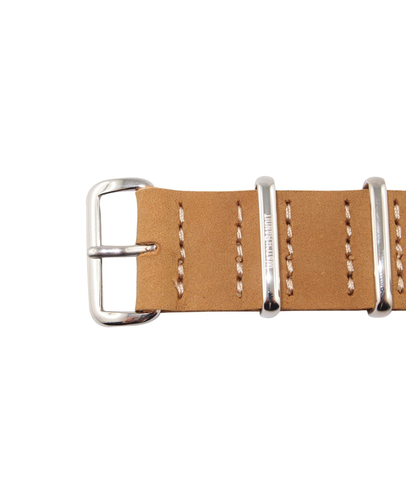 Nato Strap | Natural Leather | Polished