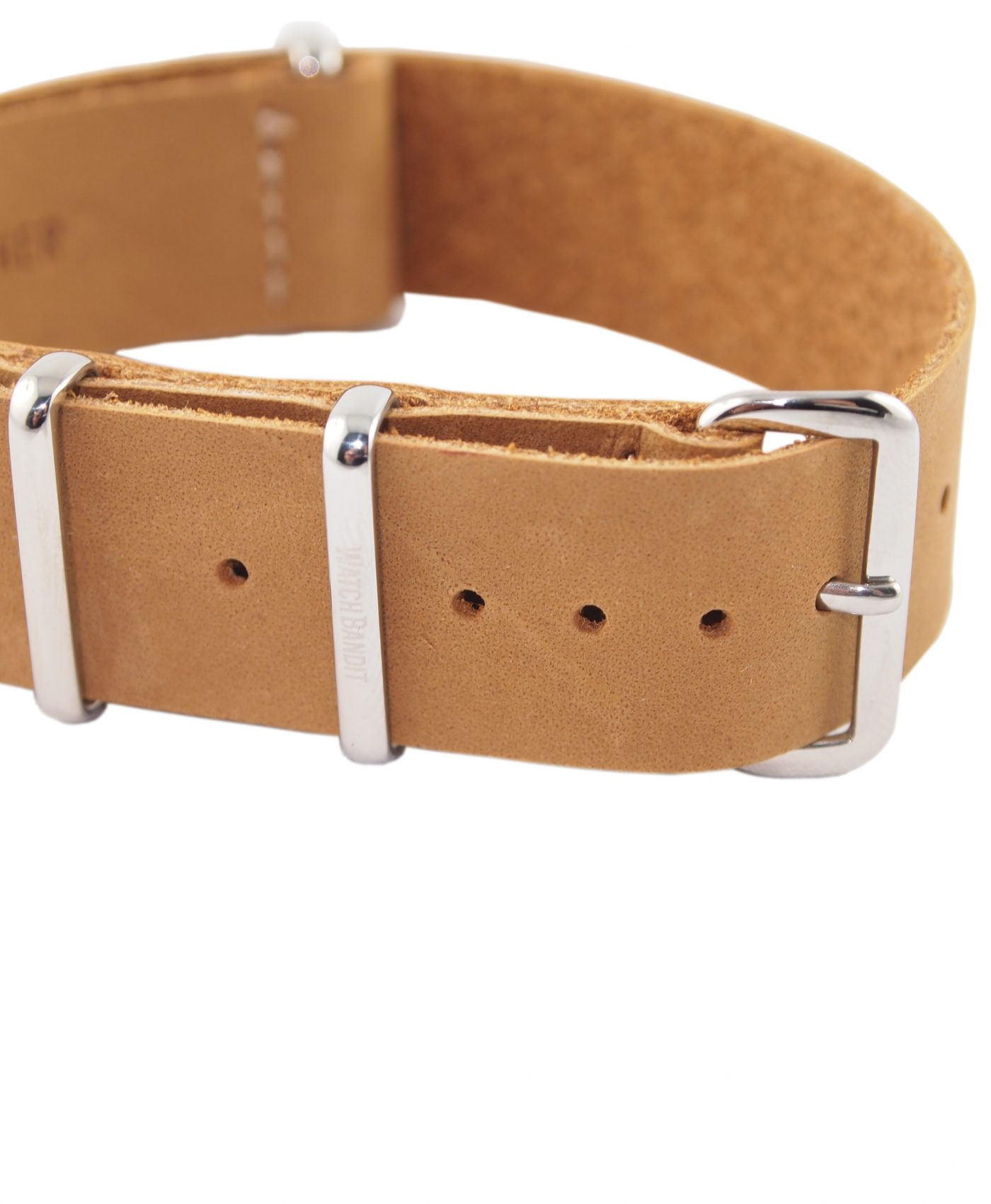 Nato Strap   Natural Leather   Polished
