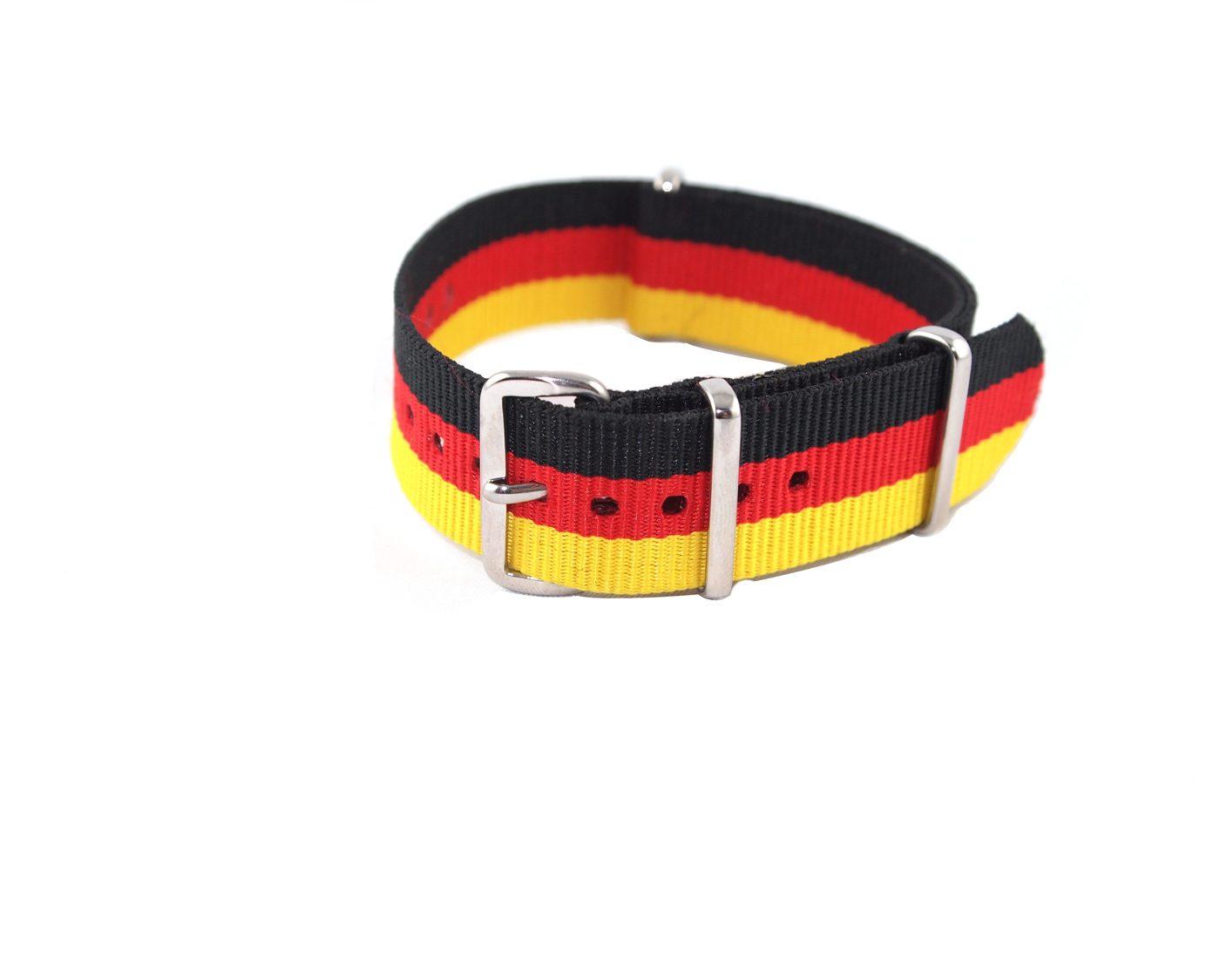 Nato strap black red yellow watchbandits