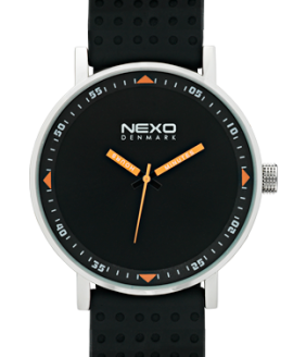 nexo watches_blackS_orange