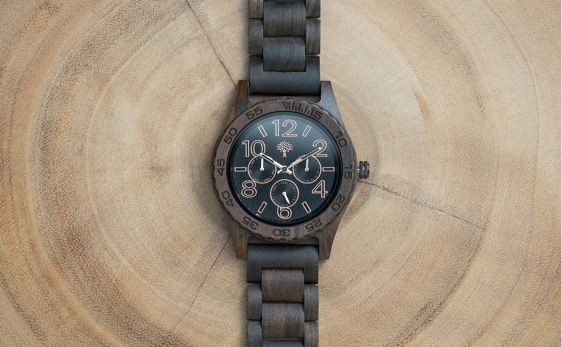 watch pp new with truwood mahogany for watches men chronograph pilot black products wooden
