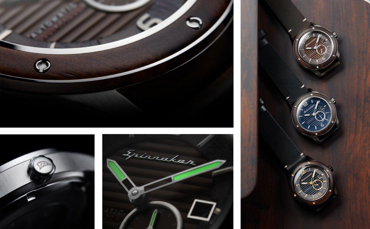 spinnaker wood watches sorrento details