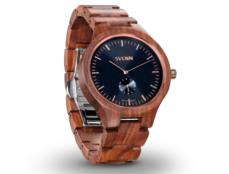 svenn wood watch noir sandalwood