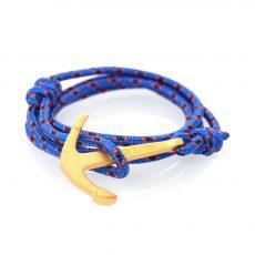 Tasman Matte Gold Anchor Bracelet