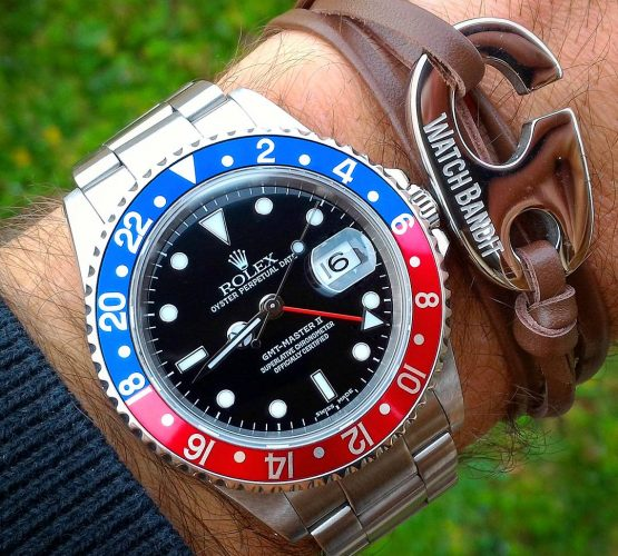 rolex gmtmaster and watchbandit bracelet by david2fam