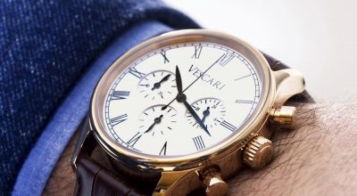 Vescari heritage chronograph rosegold white