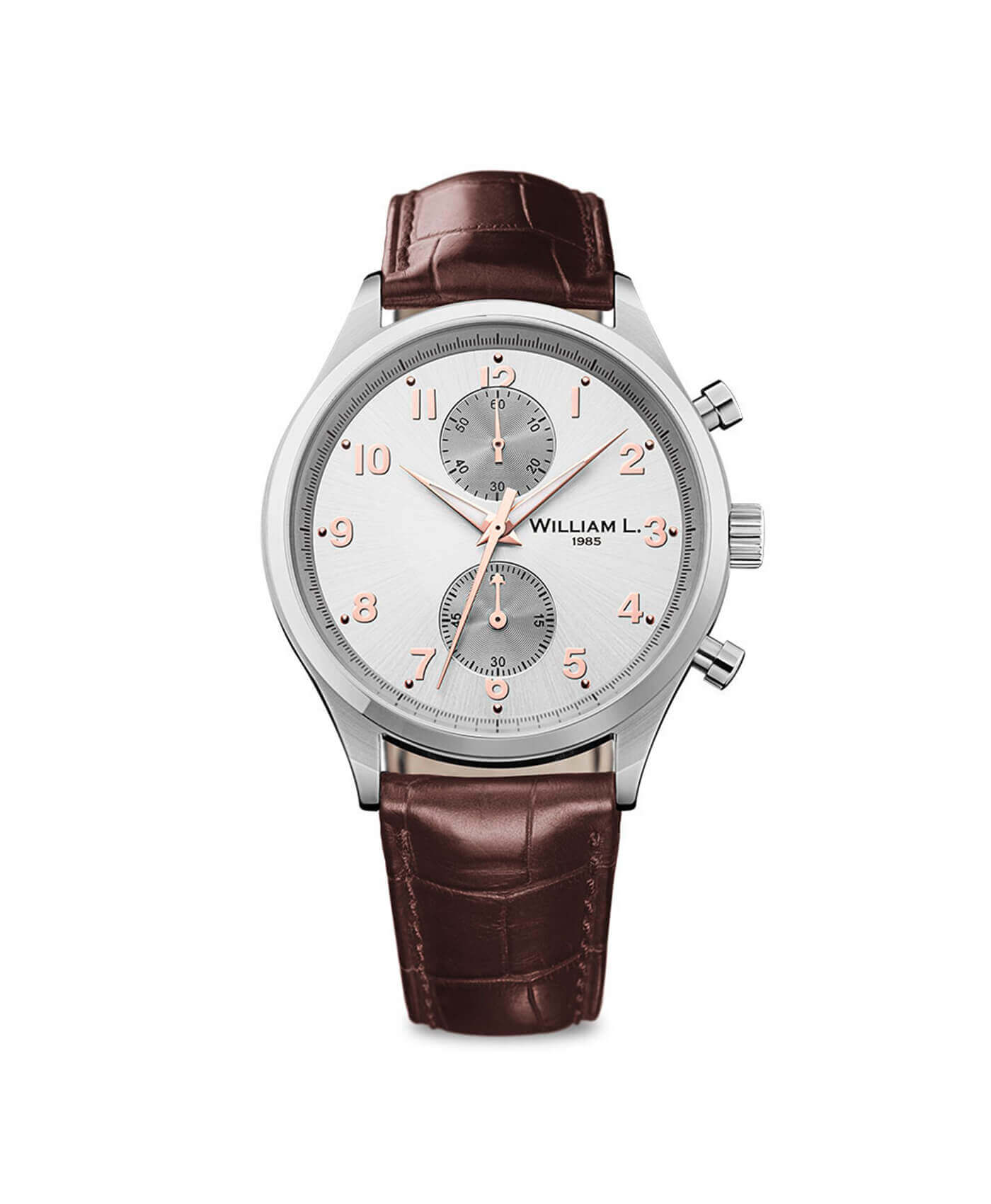 William L. 1985 - Small Chronograph - Silver/Brown