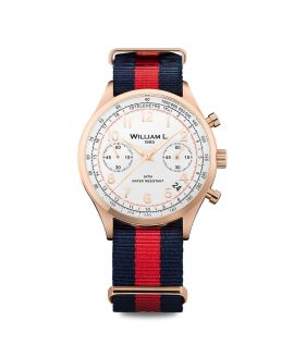 William L. 1985 - Chronographs - Vintage Chronograph - Rose Gold/Red-Blue
