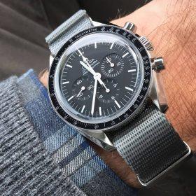 omega speedmaster grey nato strap watchbandit