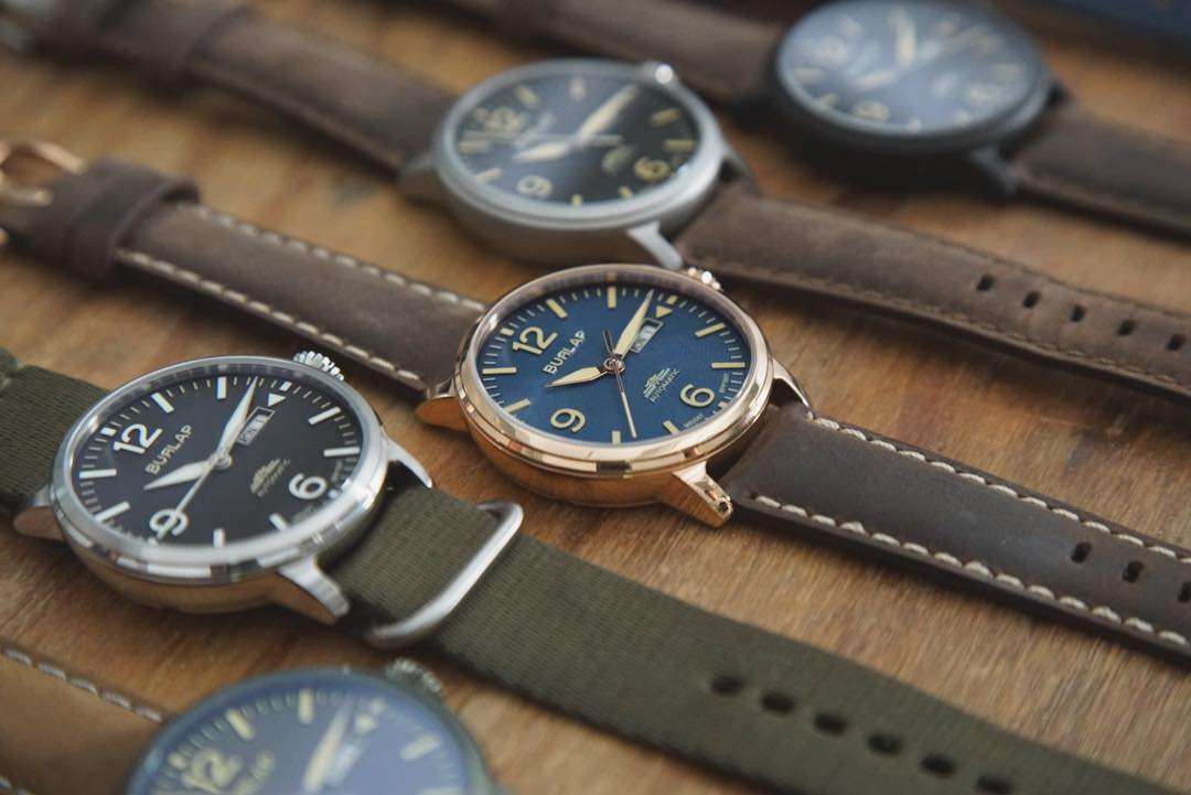 burlap watches collection