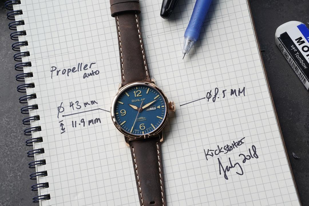 burlap watches