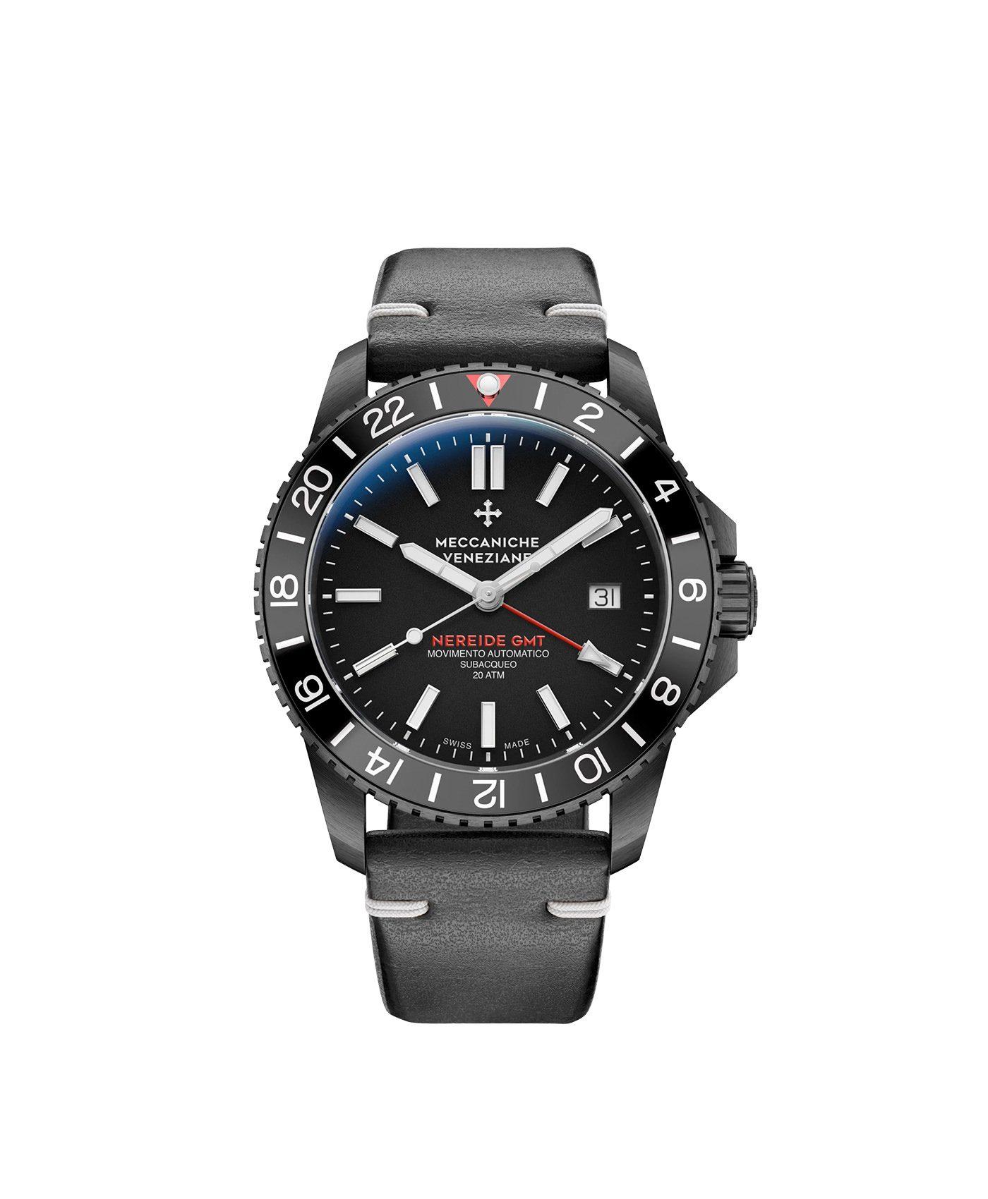 WatchBandit Meccaniche Veneziane GMT nereide gmt ardesia pvd front