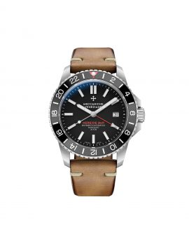 WatchBandit Meccaniche Veneziane NEREIDE GMT ARDESIA front