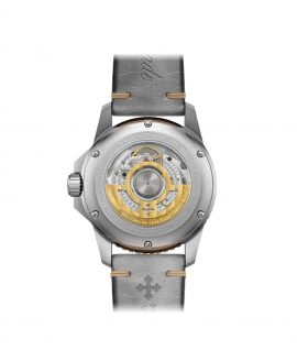 WatchBandit Meccaniche Veneziane NEREIDE GMT BASALTO CREMA back
