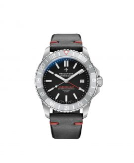WatchBandit Meccaniche Veneziane NEREIDE GMT BASALTO front