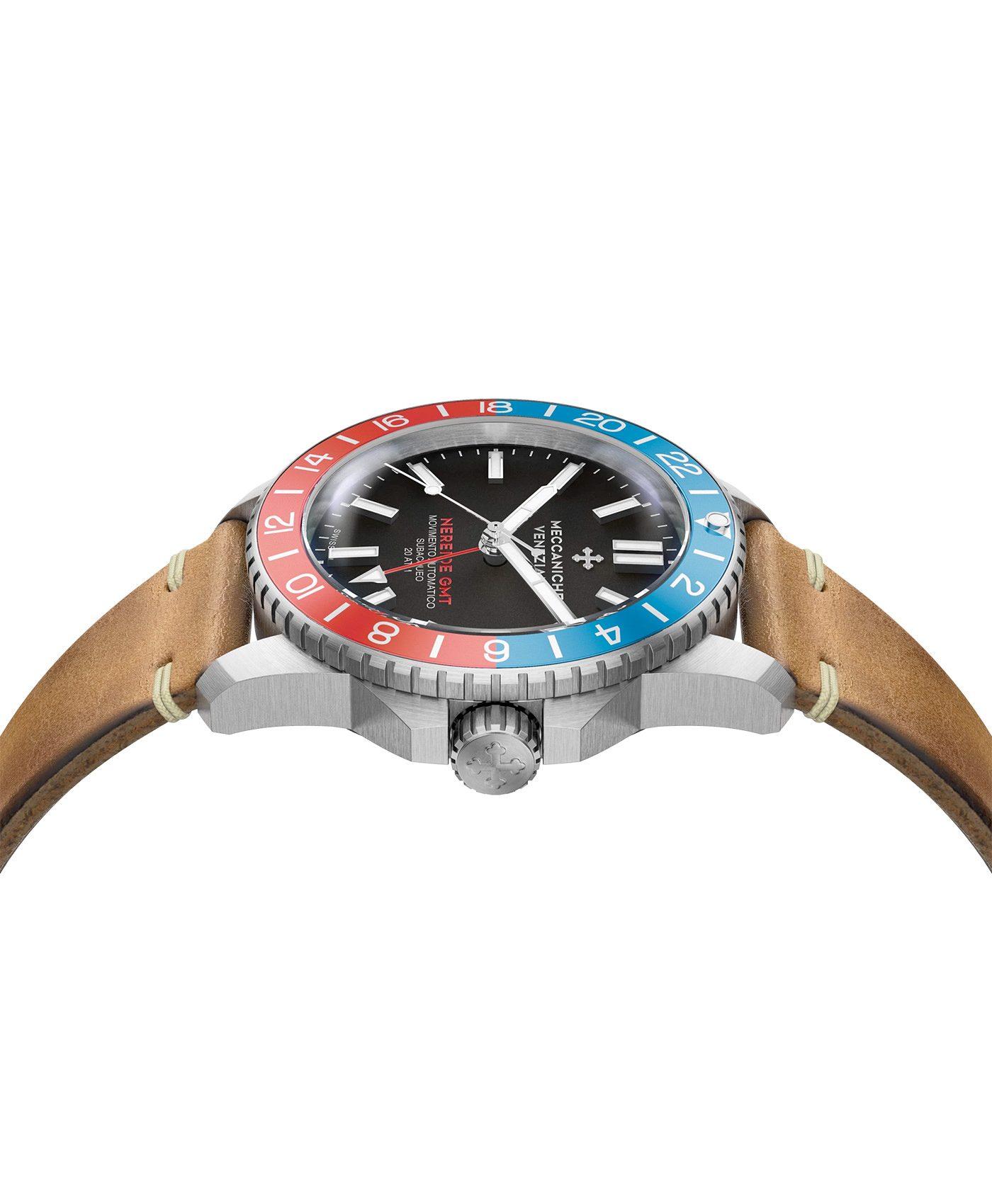 WatchBandit Meccaniche Veneziane NEREIDE GMT DIASPRO side
