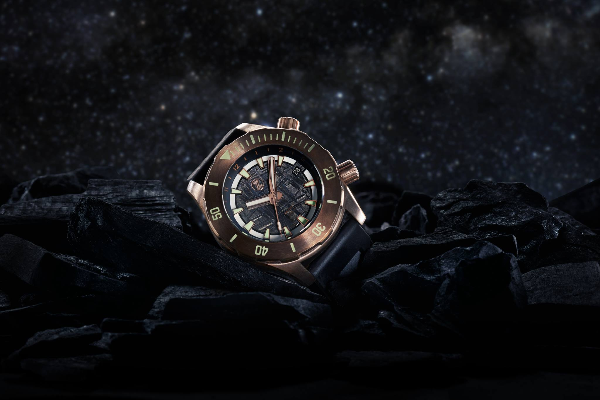 zelos bronze watch