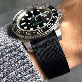Rolex GMT Master II on Two Piece Nato strap front