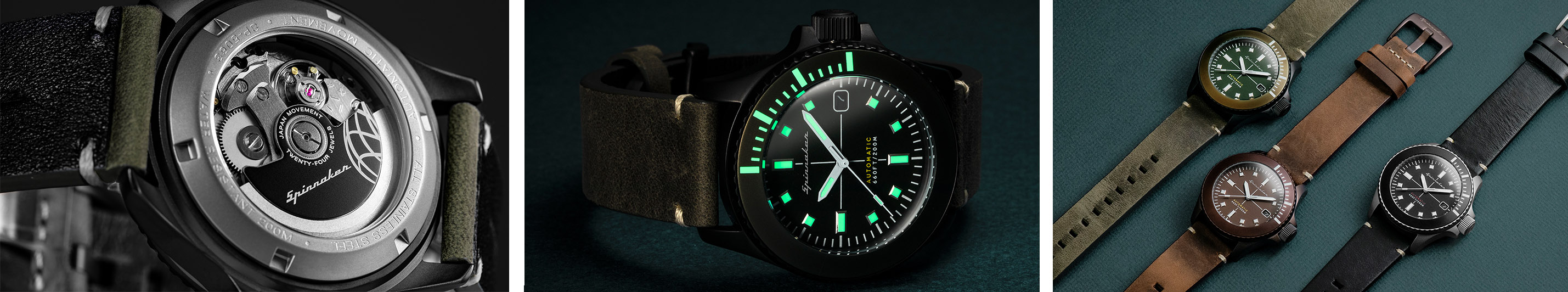 Spinnaker 5063 Spence Collection Movement and Lume Watchandit Banner
