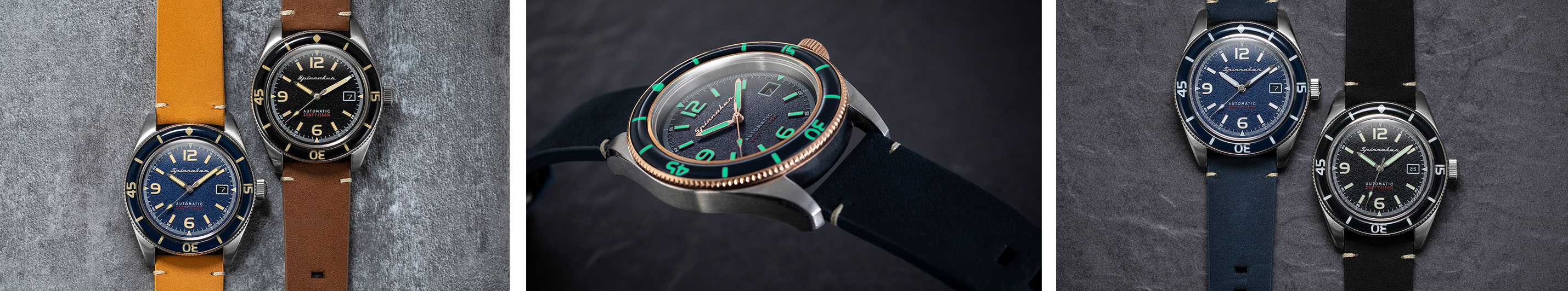 Spinnaker Fleuss different collections with lume shot