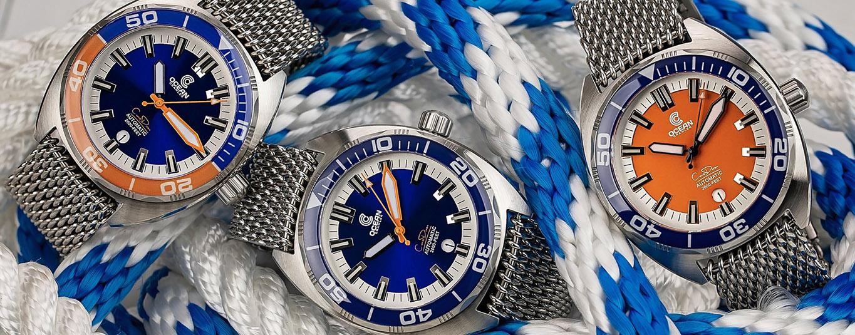 Ocean Crawler Core Diver Kollektion Blau und Orange