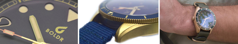 BOLDR Voyager close up details and wristshot