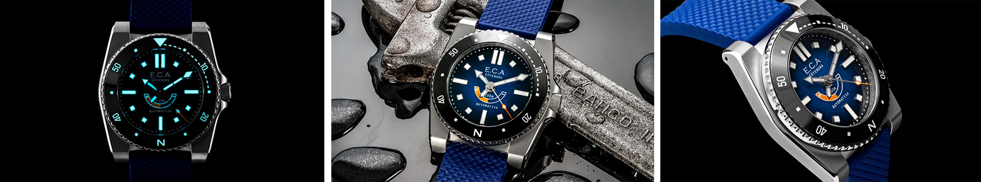 E.C.Andersson Calypso Blue watch details banner