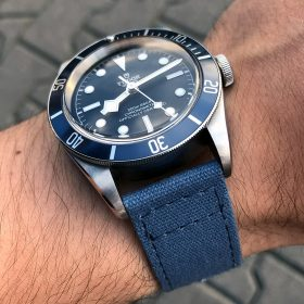 Tudor Heritage Black Bay blue 79230B Canvas Strap WatchBandit