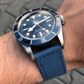 Tudor Heritage Black Bay blue 79230B Canvas Strap WatchBandit