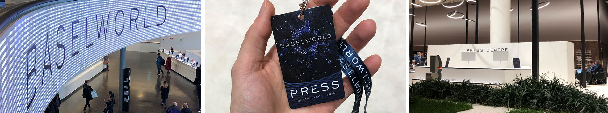 Arrival at Baselworld 2019 Press area