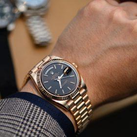 Rolex DayDate 18k Everose Gold