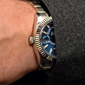 Rolex SkyDweller blue dial
