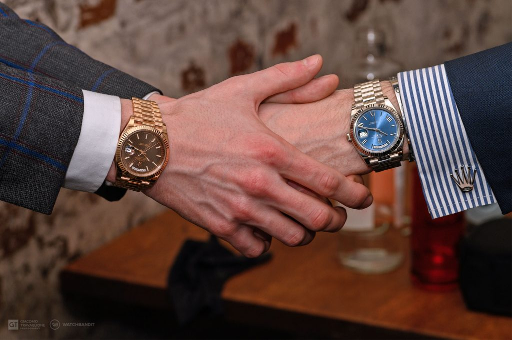 Presidential handshake - Rolex DayDate 18k Everose and white gold