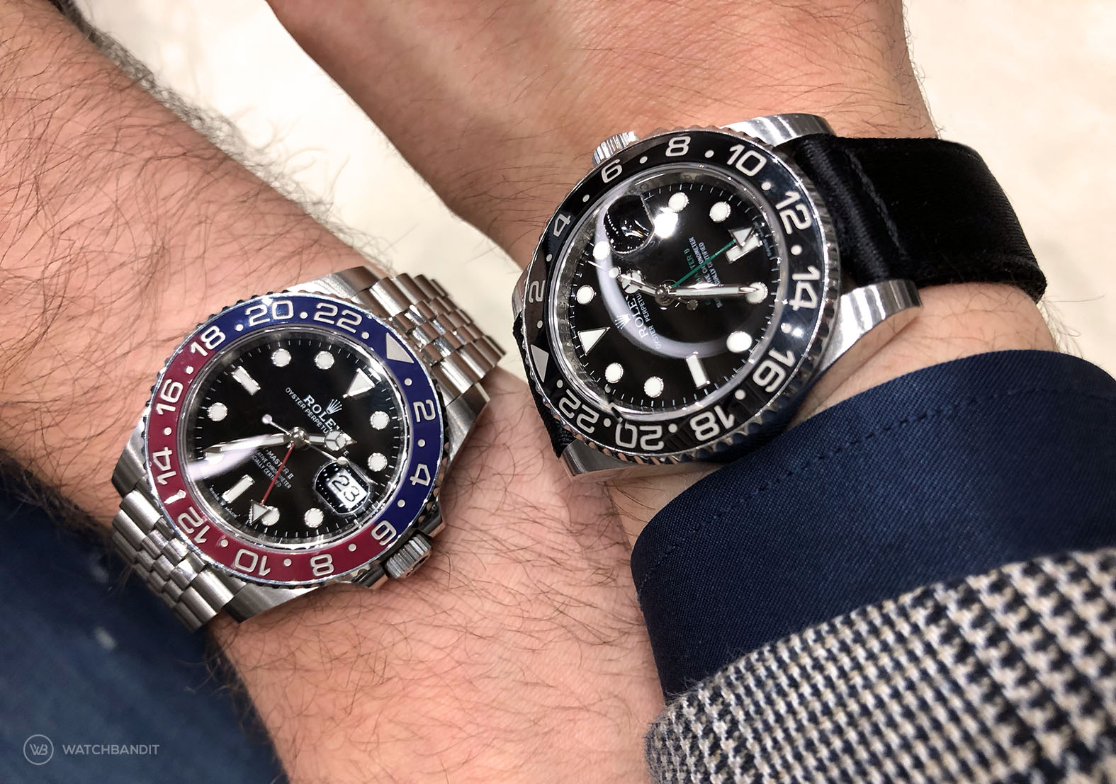 WatchBandit and Flomp89 Rolex GMT wristshot