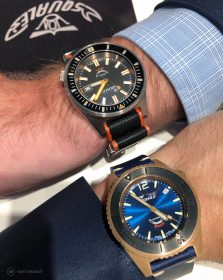 Squale 1521 bronzo and Squale Matic 600 meter Professional wristshot at Baselworld 2019