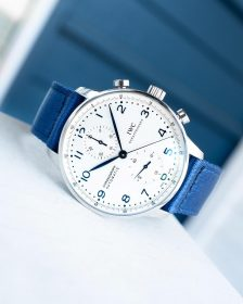 IWC Chronograph on blue WB Original two-piece NATO by @gulenissen
