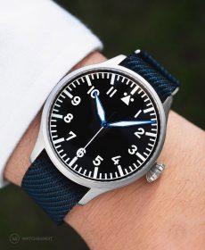 Archimede adjustable single pass NATO strap by watchbandit