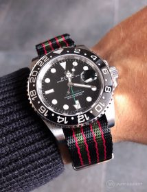 Rolex GMT Master II on Bond NATO by @gmtfanatic