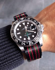 Rolex GMT Master II on bond 1.4 mm NATO strap by Watchbandit