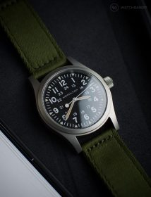 Hamilton Khaki on green WB Original two-piece NATO by @mymechanicalwrist