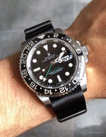 Rolex GMT Master II on black #wristporn 1.2 mm NATO strap by Watchbandit