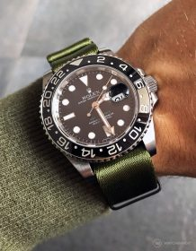 Rolex GMT Master II on green #wristporn 1.2 mm NATO strap by Watchbandit