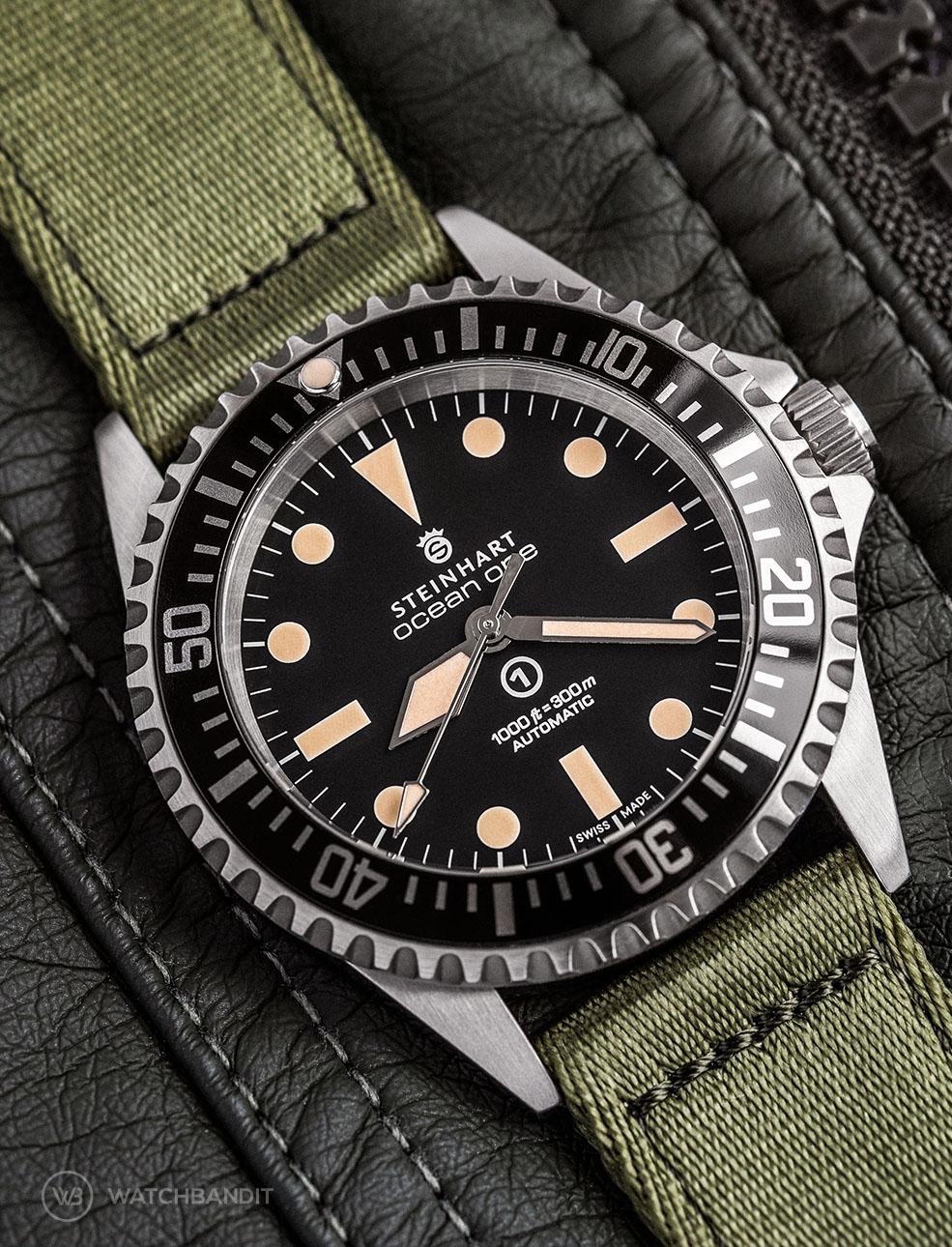 Steinhart Ocean one on green WB Original two-piece NATO by @wristrockers